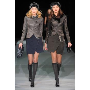 Кожаные куртки серая и черная